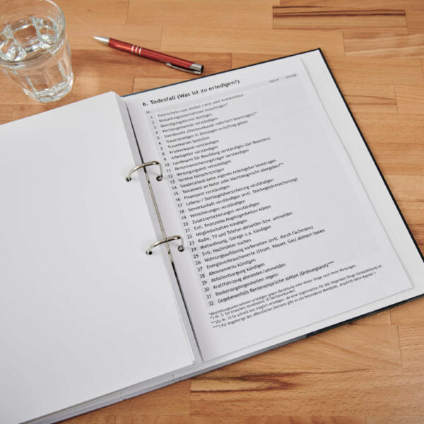 Der Vorsorge-Ordner – Checkliste Todesfall